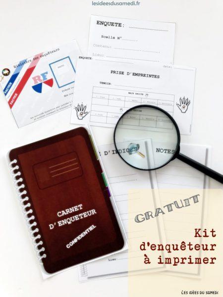 kit enqueteur free printable lesideesdusamedi