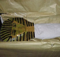 Egypte: pharaon momie dans son sarcophage (Tuto DIY)