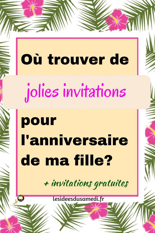 cartes invitations anniversaire fille