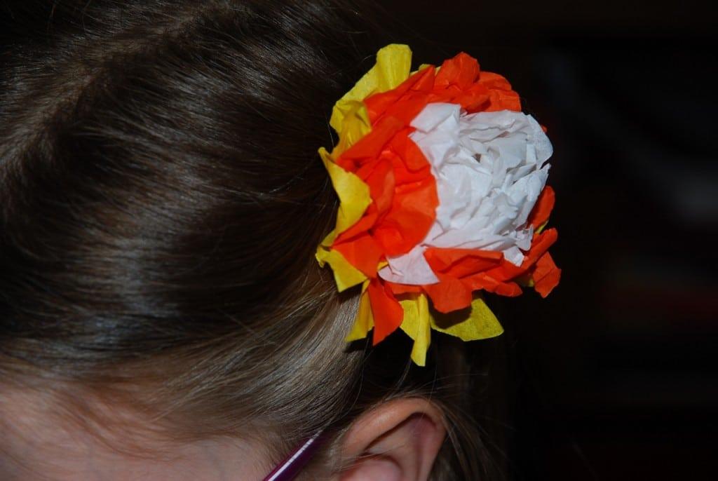 barrette fleur en papier diy