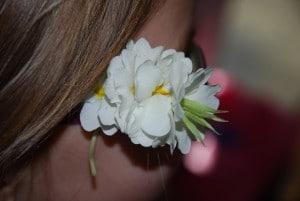barrette fleur en papier