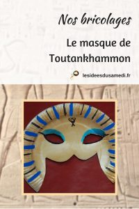 fabriquer un masque facilement avec assiette pharaon