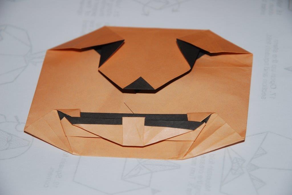 citrouillle origami sur papier double face