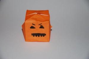 Citrouille Halloween origami