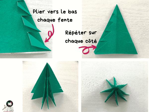 detail pliage sapin origami