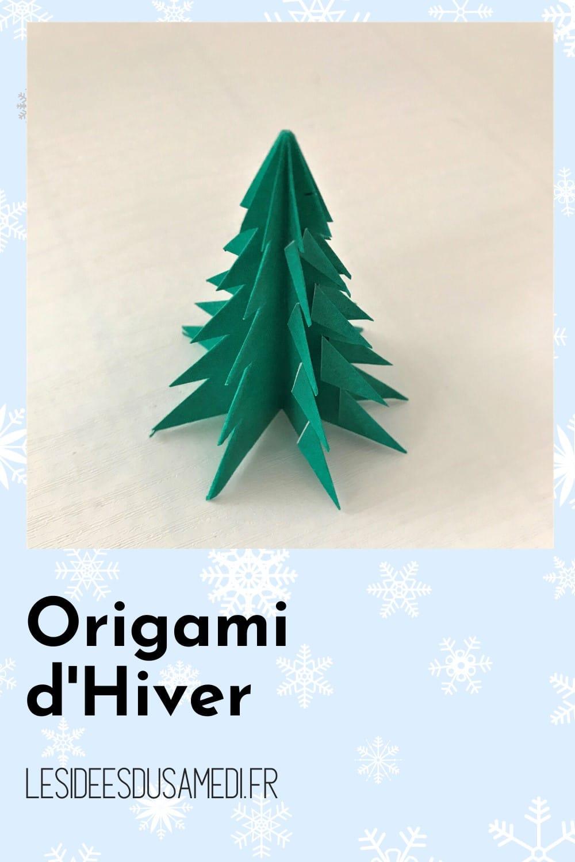 origami hiver sapin pliage