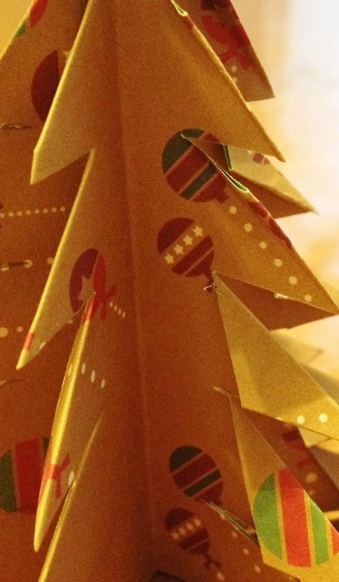 tuto sapin origami jaune