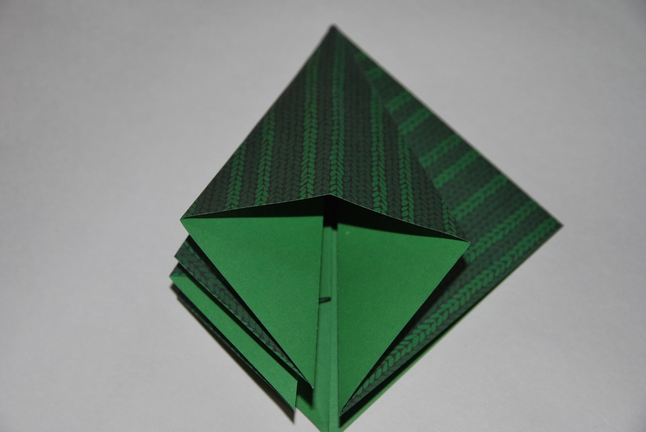 D coration de table de no l tuto sapin origami - Origami sapin de noel facile ...