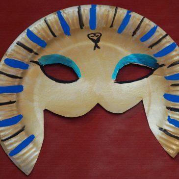 Tuto fabrication d'un masque de pharaon