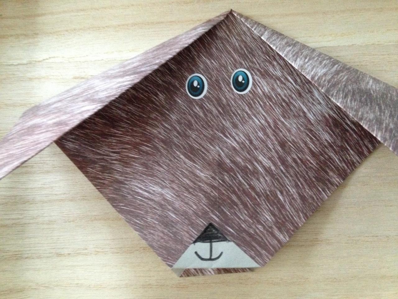 petit chien en papier poils