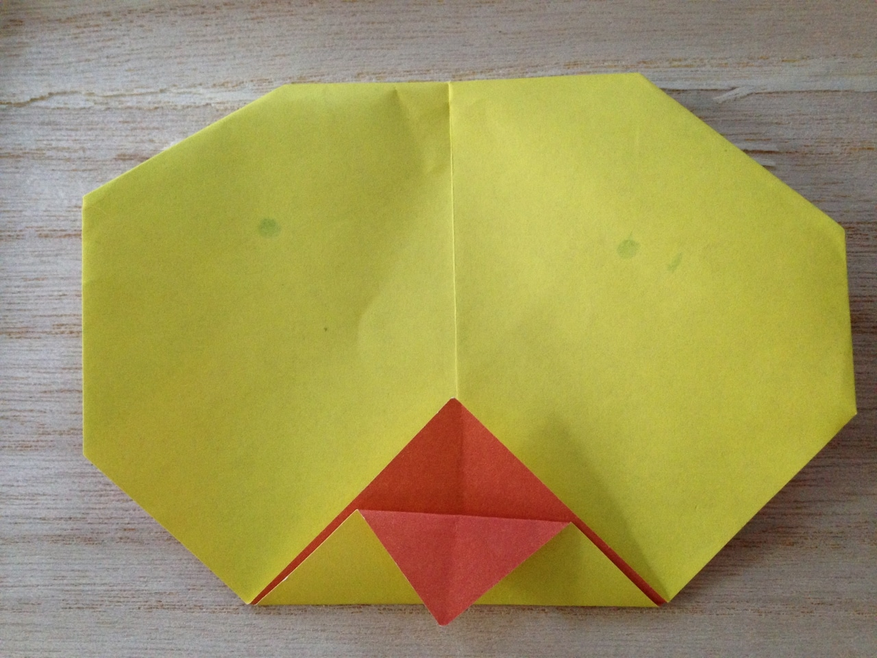poussin en papier