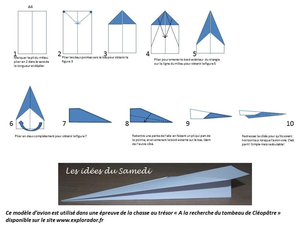 Souvent Modèle d'avion en papier facile à plier AU46