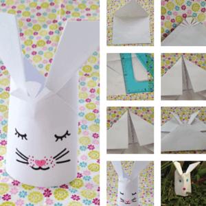 Pour Pâques, un pliage de lapin en papier facile #tuto