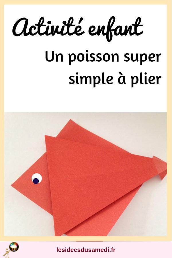 activite maternelle origami poisson facile