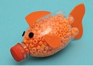 poisson d'avril avec une bouteille