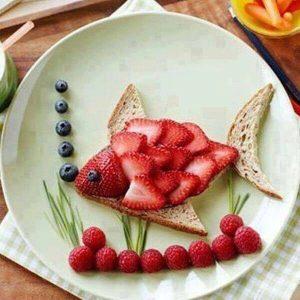 poisson d'avril dans l'assiette