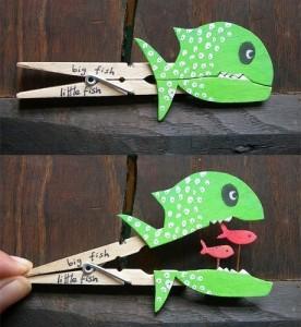 poisson d'avril pince à linge