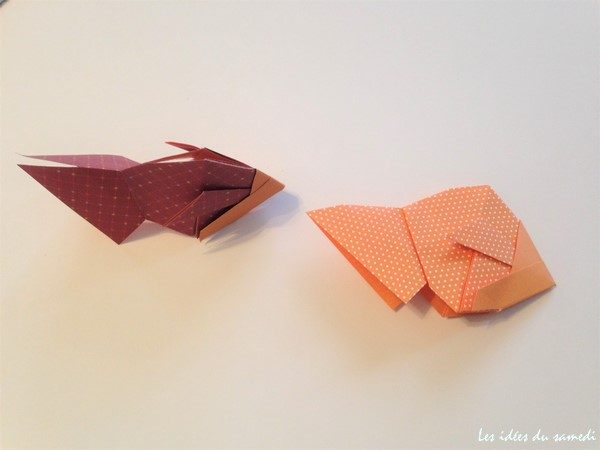 poissons origami pliage