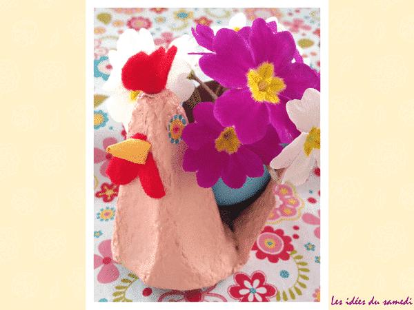 Comment fabriquer une poule de Pâques en recup?