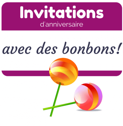 6 idées d'invitations d'anniversaire avec des bonbons