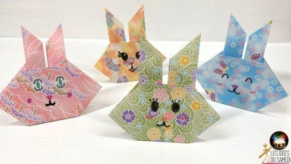 lapin en origami facile pour enfants