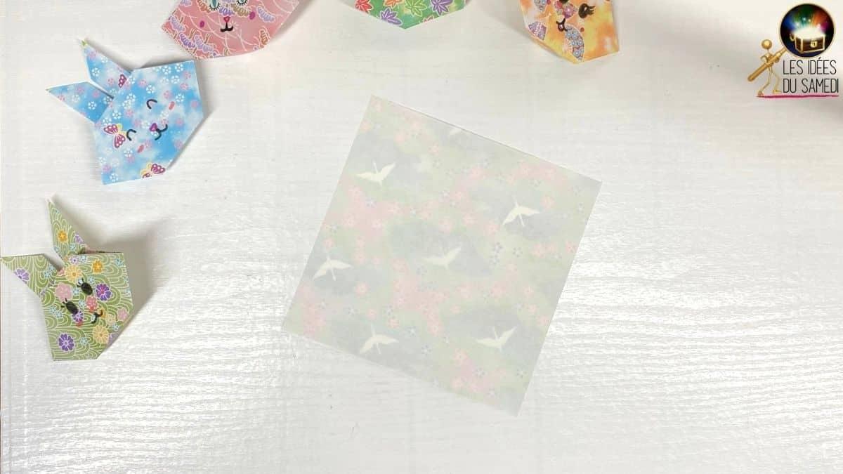 lapins papier origami facile