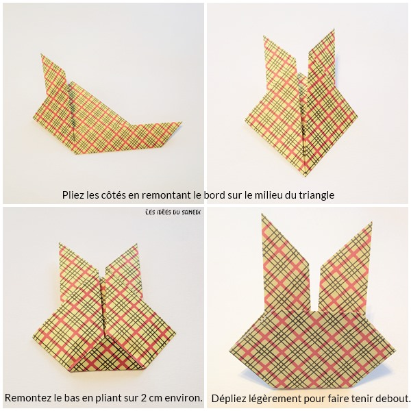 fabriquer petit lapin origami facile