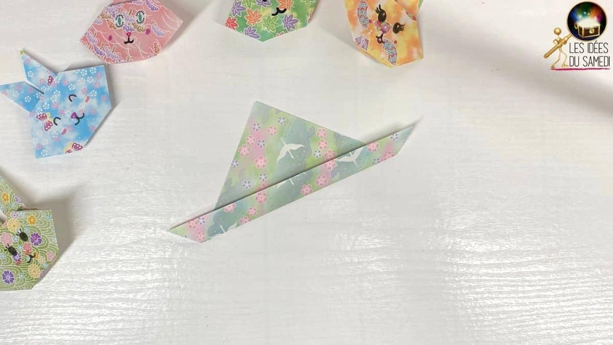 plier la base du triangle