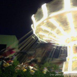 la nuit dans les chaises volantes au parc asterix