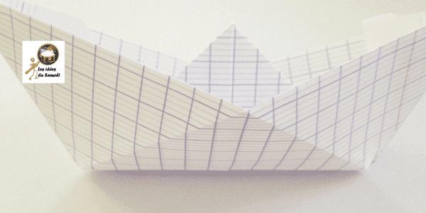 bateau en papier Les idées du Samedi