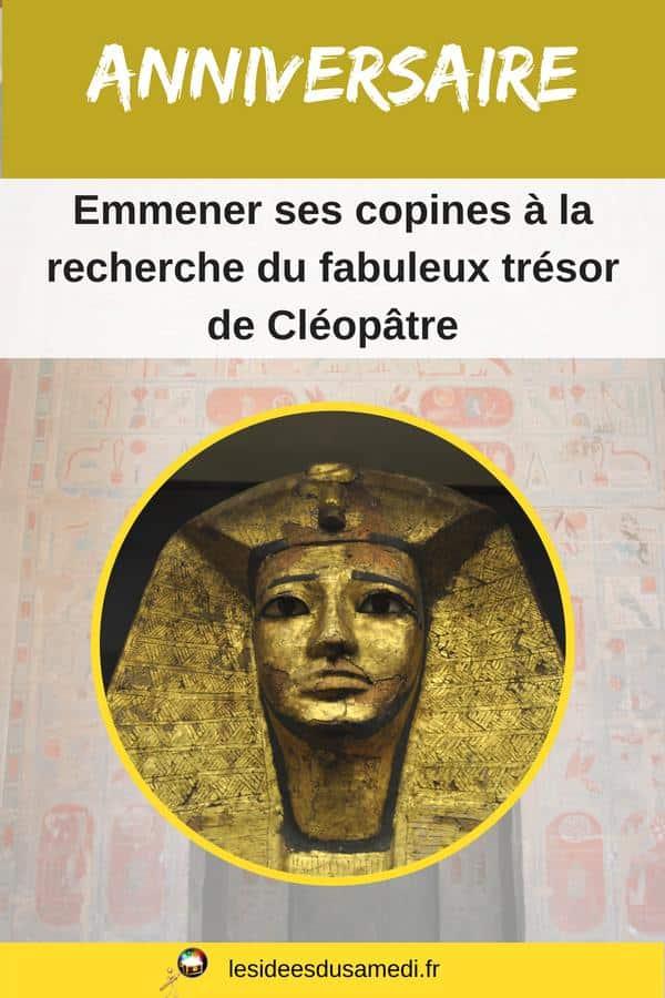 anniversaire theme egypte enfant