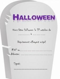 rip halloween invitation
