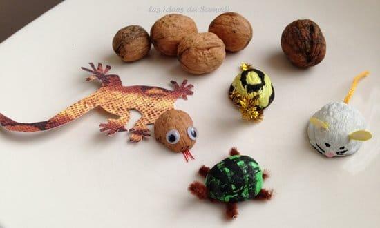 animaux coquilles de noix