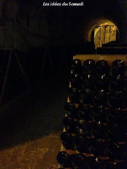 bouteilles cave taittinger