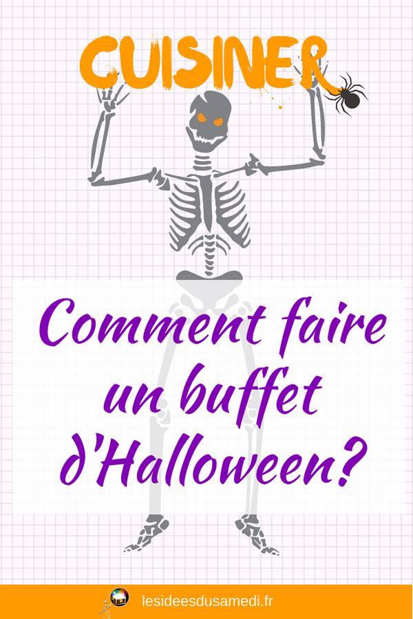 comment faire buffet halloween