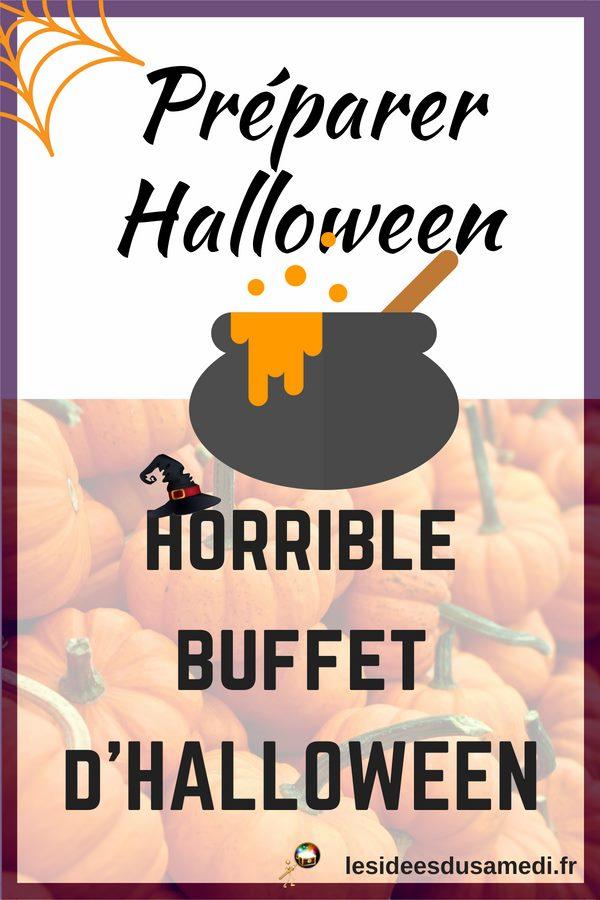 idees buffet halloween
