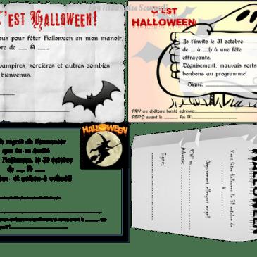 Invitations gratuites à imprimer pour Halloween