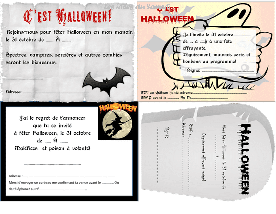 invitation halloween gratuite