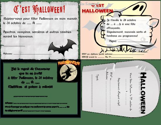 Invitations gratuites pour Halloween