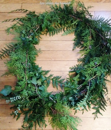 couronne noel nature 2015
