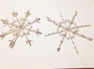 flocons neige perles FB
