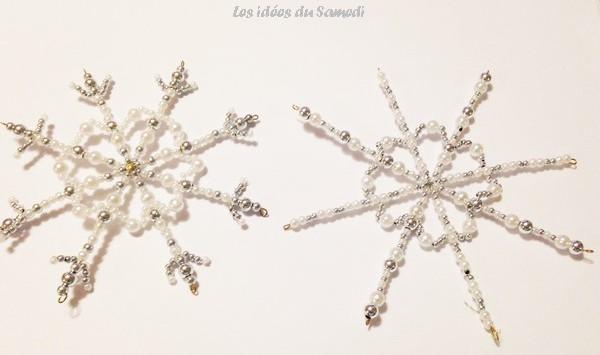 flocons neige perles