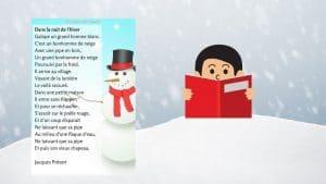 apprendre chanson enfants hiver jacques prevert