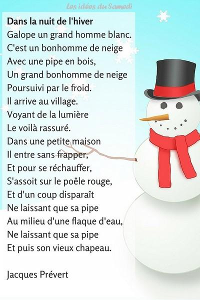 chanson pour les enfants l hiver jacques prevert