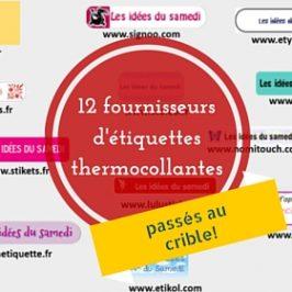 comparatif detaille founrisseurs etiquettes thermocollantes