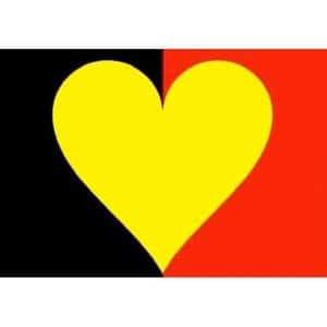 drapeau belge coeur