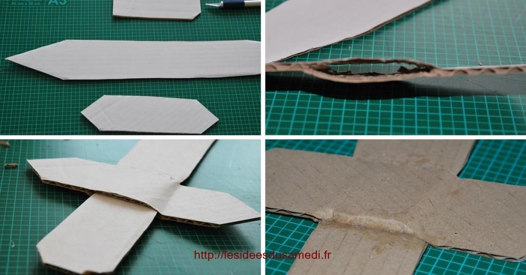 fabriquer epee carton