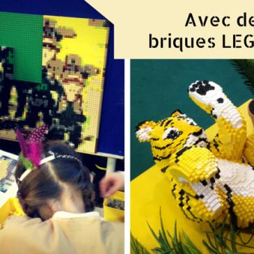 Devenez artiste avec Lego, exposition Centre Commercial Velizy2