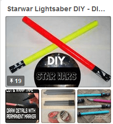 lightsaber starwars pinterest