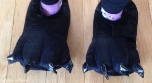 pattes panda chaussons